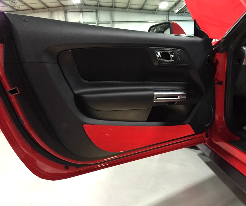 Body Color Painted Door Kick Plates For 2015 2017 Mustang