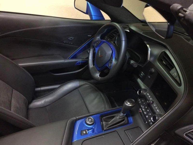Painted Center Console For C7 Corvette Pfyc