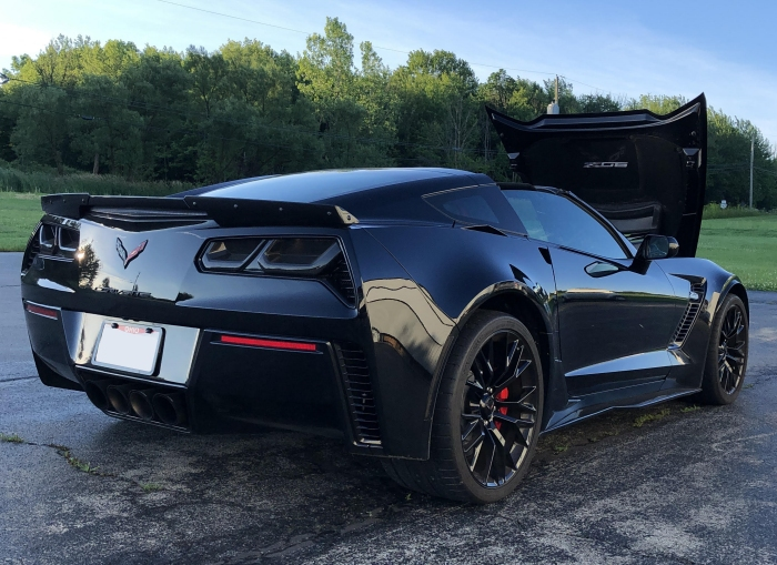 Molded Acrylic Tail Light Blackout Lens Package For C7