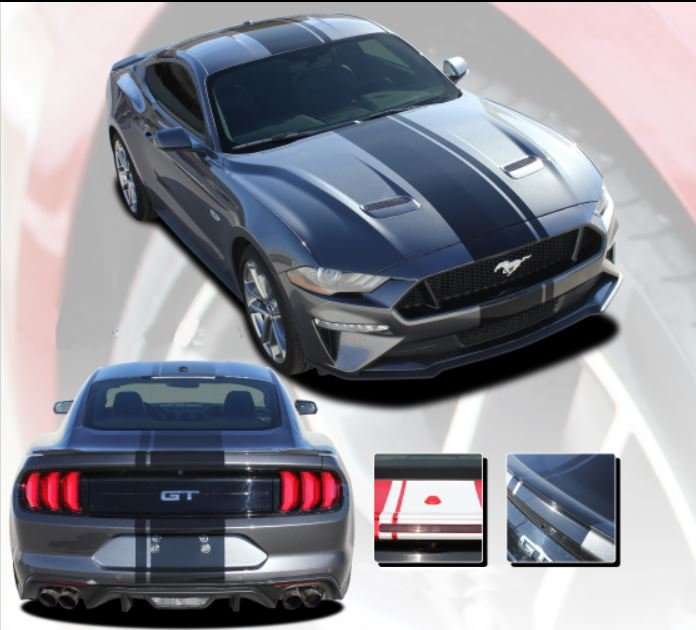 Euro Xl Rally Stripe Kit For 2018 2019 Mustang Gt And