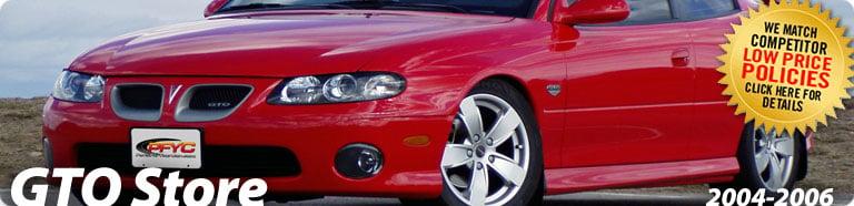 2004 2006 Pontiac Gto Accessories Pontiac Gto