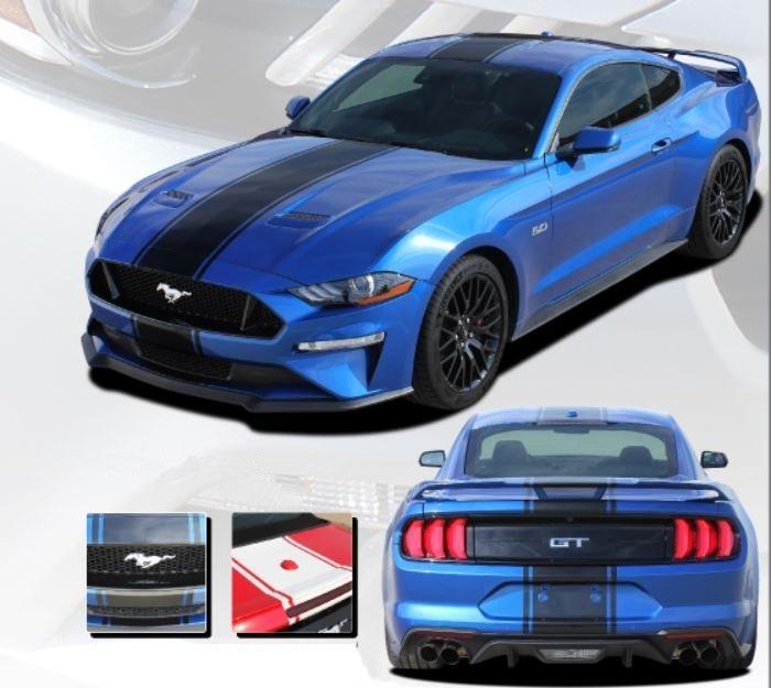 Hyper Rally Stripe Kit For 2018 2019 Mustang Gt Ecoboost