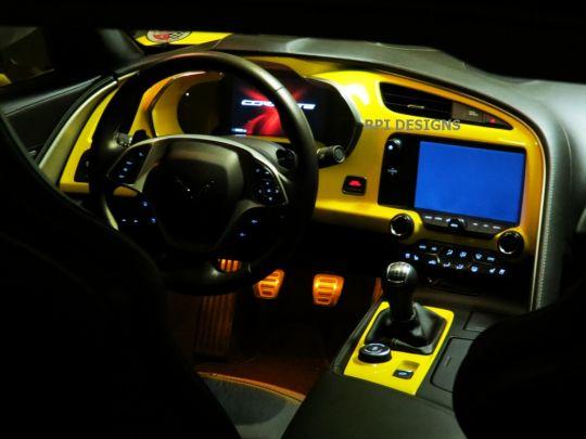 body color painted c7 corvette dash surround panel pfyc