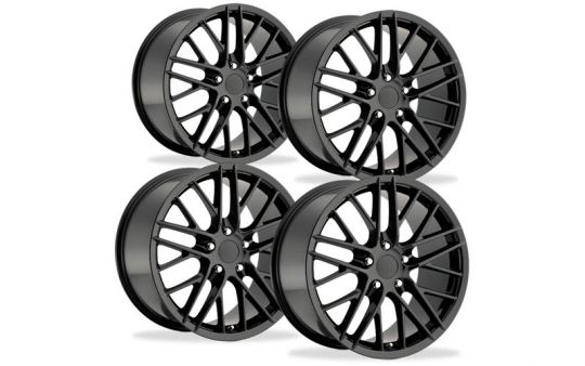 C6 Corvette ZR1 Reproduction Wheel Set - Black