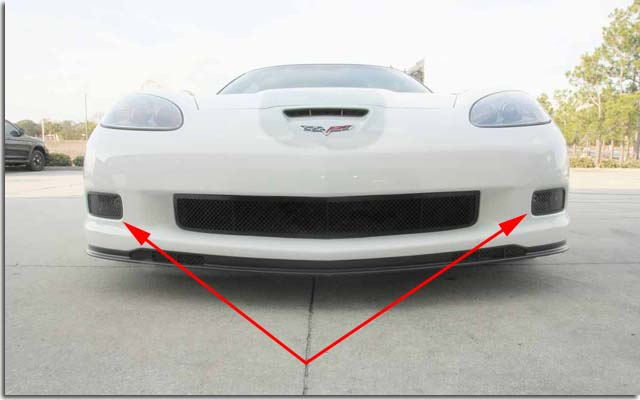 Blakk Stealth Laser Mesh Driving Light Covers C6 Corvette