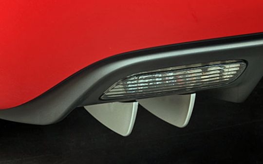 Body Color Painted Rear Aero Diffuser Kit for C6 Corvette
