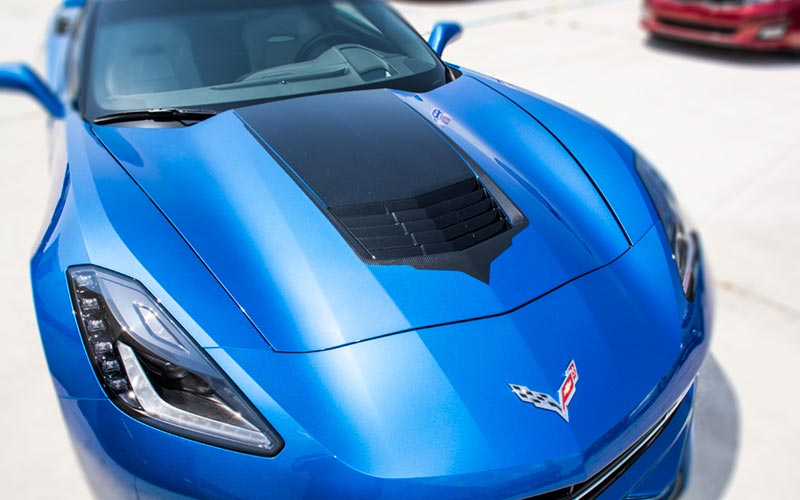 2014 Corvette Stingray For Sale >> Carbon Fiber Hood Vent Vinyl Graphic 2014-2019 C7 Corvette ...