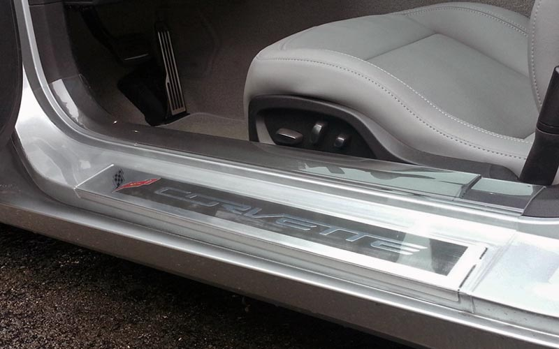 Large Clear Plastic Door Sill Protectors For C7 Corvette