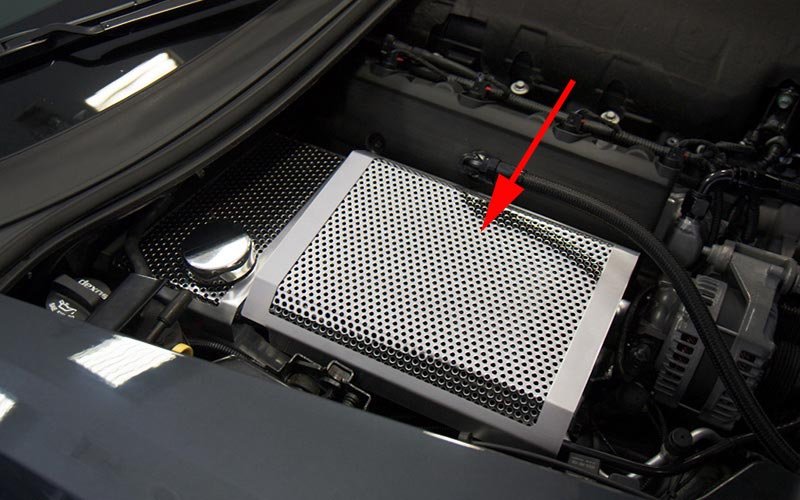 Perforated Brushed Stainless Fuse Box Cover For C7