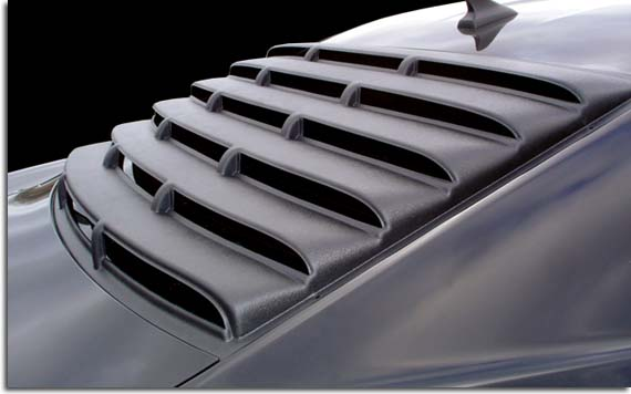Rear Window Louvers For 2010 2015 Camaro Pfyc
