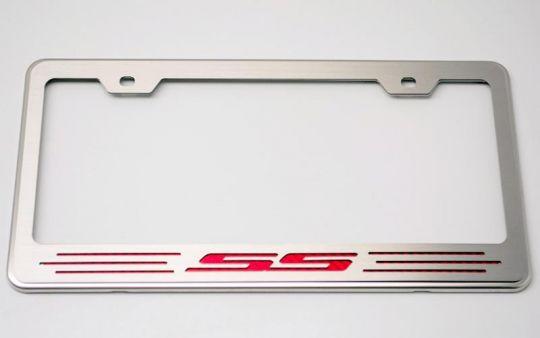 Carbon Fiber or Color Logo License Plate Frame 2010-2015 Camaro RS ...