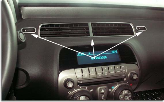 Stainless Or Color Matched Center Ac Vent Trim Kit 2010 2011 Camaro Pfyc