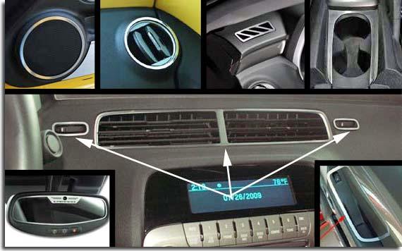 Stainless Interior Trim Kit For 2010 2011 Camaro Pfyc