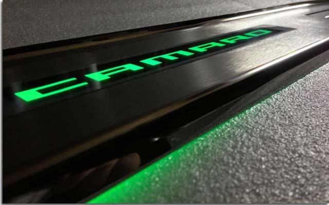 Led Illuminated Logo Door Sills For Camaro Pfyc
