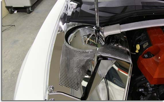 perforated stainless inner fender covers and fuse box cover for camaro pfyc