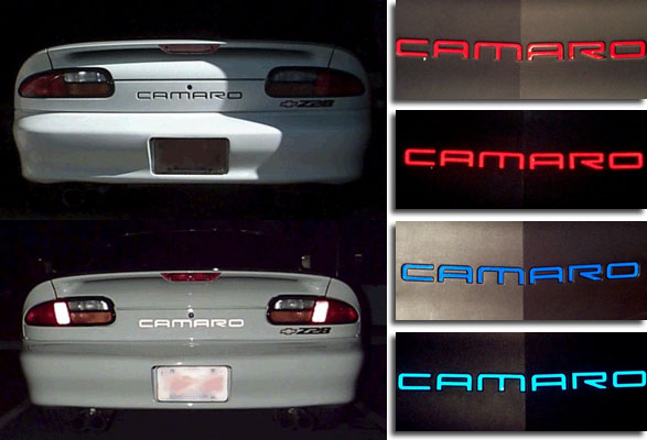 2005 Corvette For Sale >> Reflective Front or Rear CAMARO Decals for 1993-2002 ...
