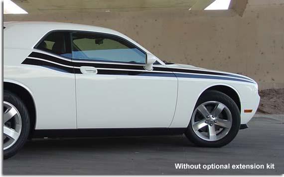Duel Side Stripe Decal Kit For 2008 2016 Dodge Challenger