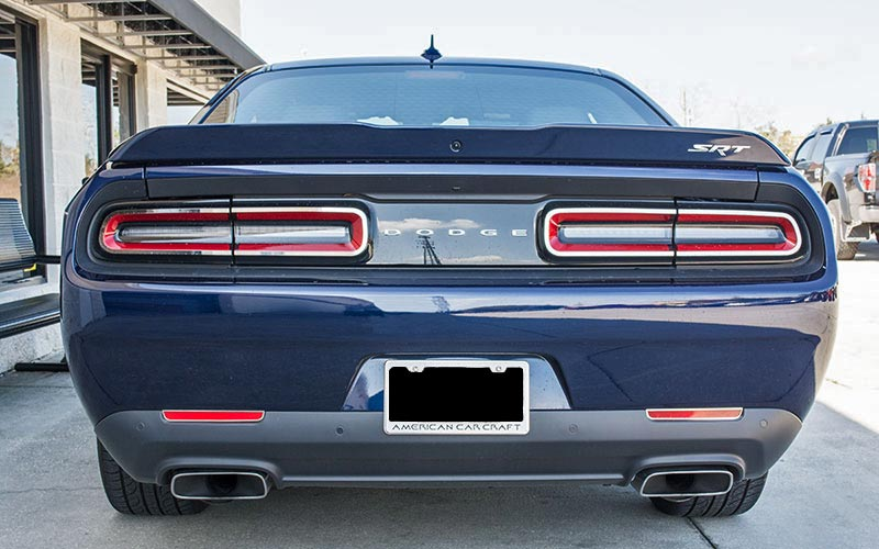 Stainless Tail Light Trim For 2015 2017 Dodge Challenger