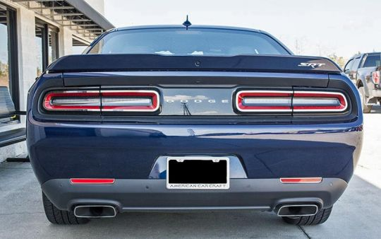 Stainless Tail Light Trim For 2015 2017 Dodge Challenger Pfyc