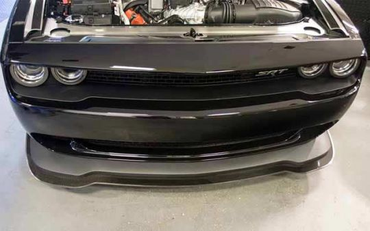 Hellcat Lip Spoiler with Real Carbon Fiber Overlay