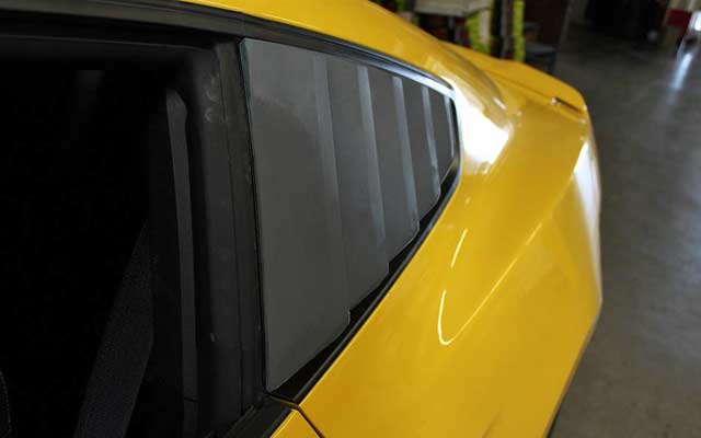 Custom painted side window louvers for 2015 2016 2017 for 2000 mustang rear window louvers
