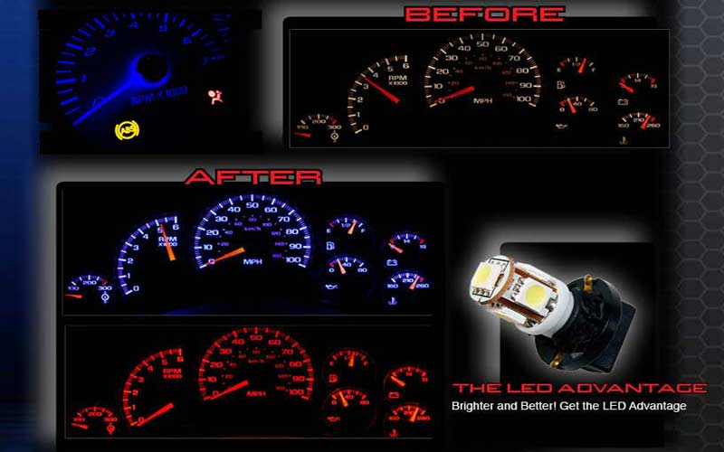 Led Light Upgrade For Factory Speedometer And Gauge