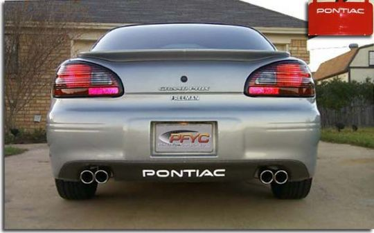 Front and rear decal kits for 1997 2003 grand prix