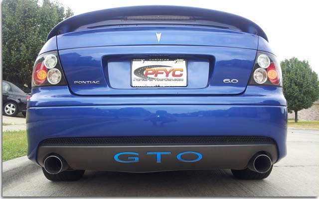 Rear Gto Decal 05 06 Gto Pfyc